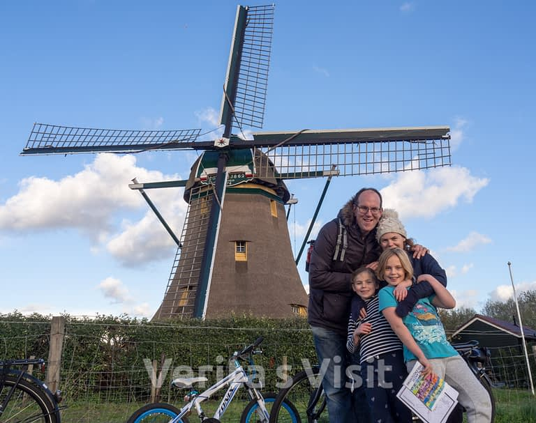 3h Bike tour Leiden lake & windmills molen meer fietstochtVerita's Visit Holland