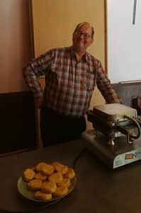 stroopwafel baking in historical location Gouda picture by participant food & crafts family day trip Verita's Visit