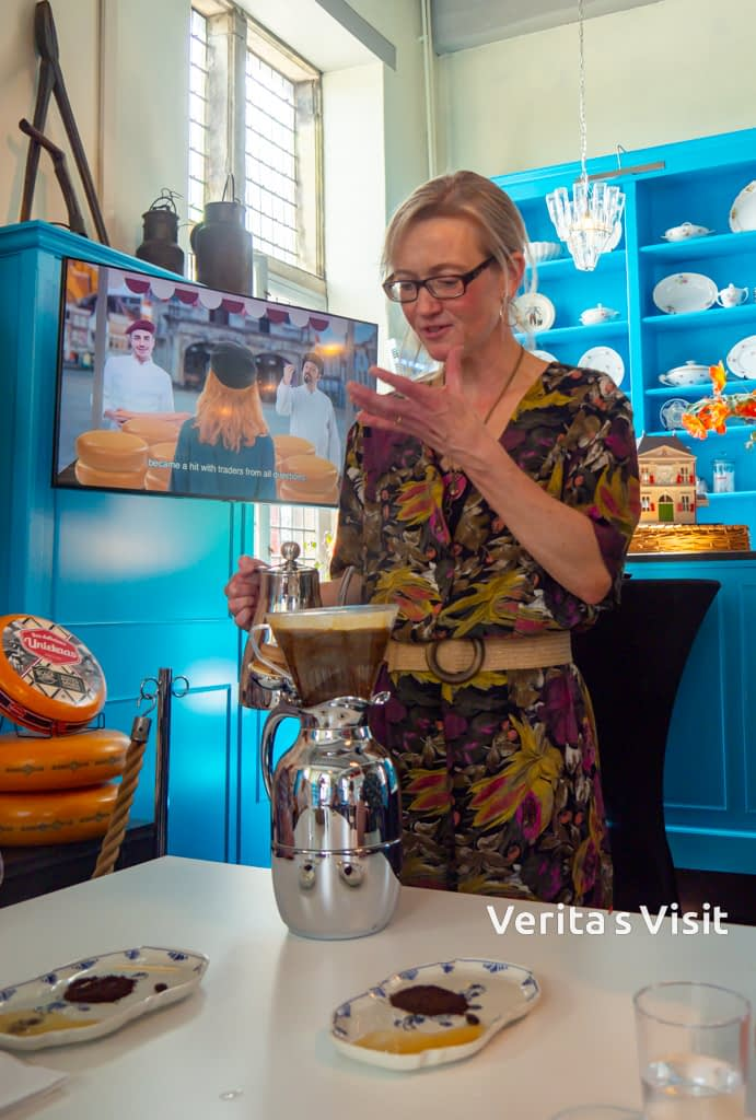 The art of brewing coffee in a Gouda cheese historical location Verita's Visit