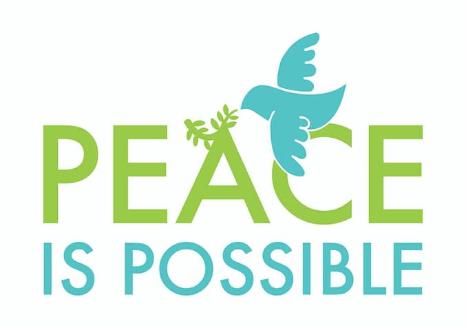 Logo #PeaceisPossible campaign